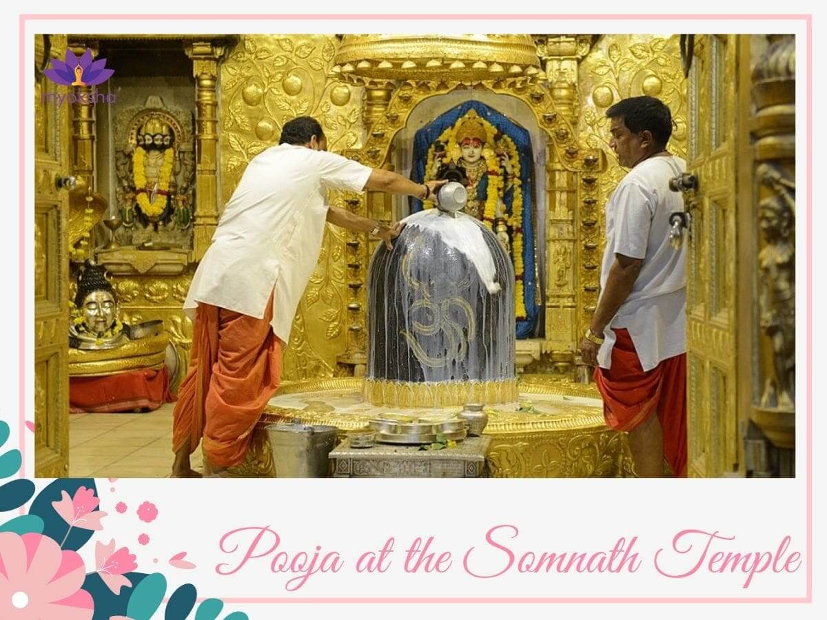 Pooja at Somnath Temple
