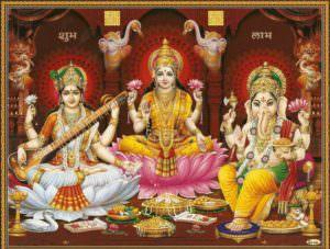 Free Ganesh Laxmi Saraswati 3D HD wallpapers for Happy Diwali