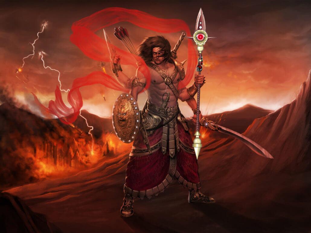 Tarakasura Hindu Demon