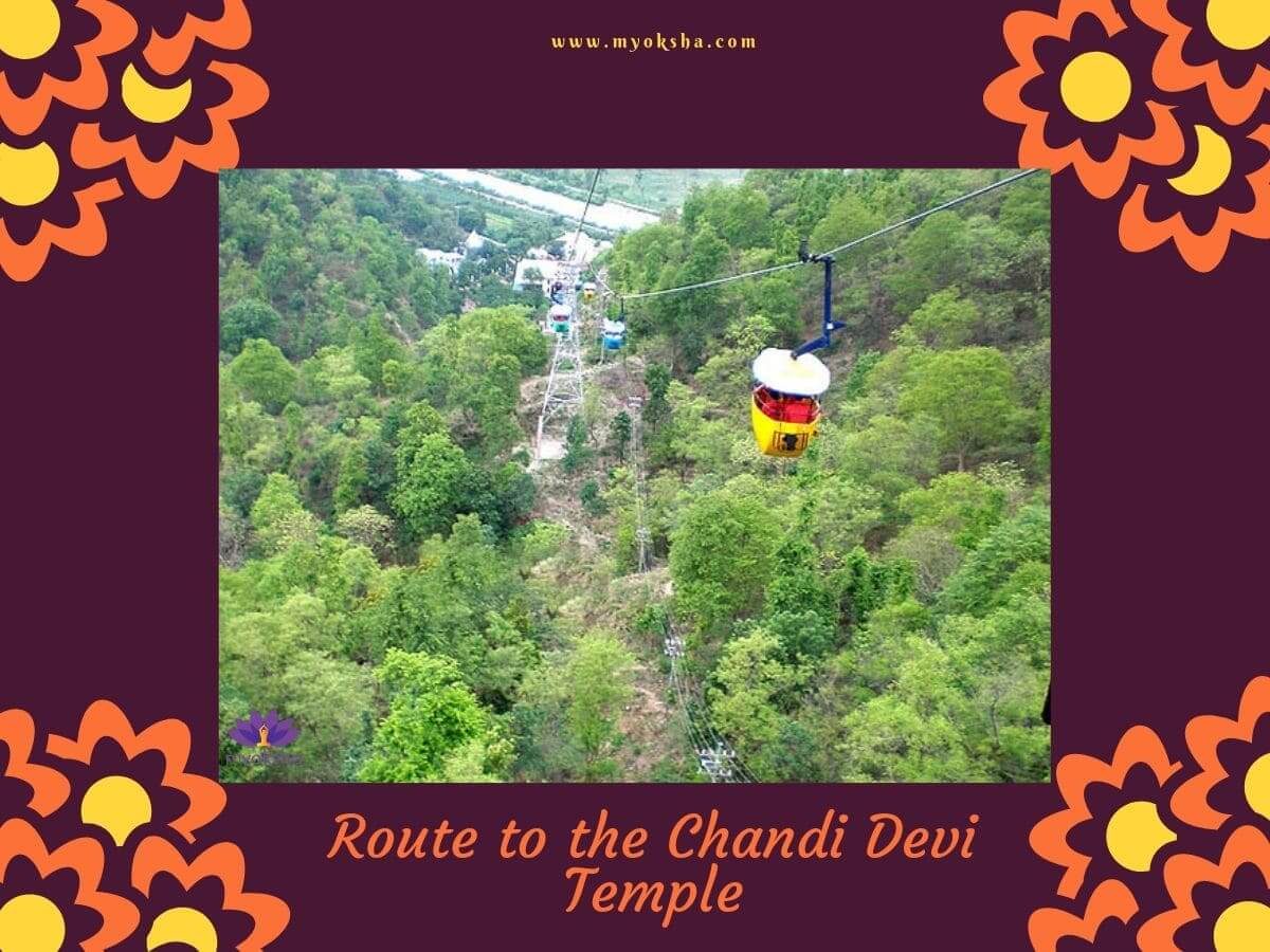 Routes to the Chandi Devi Temple