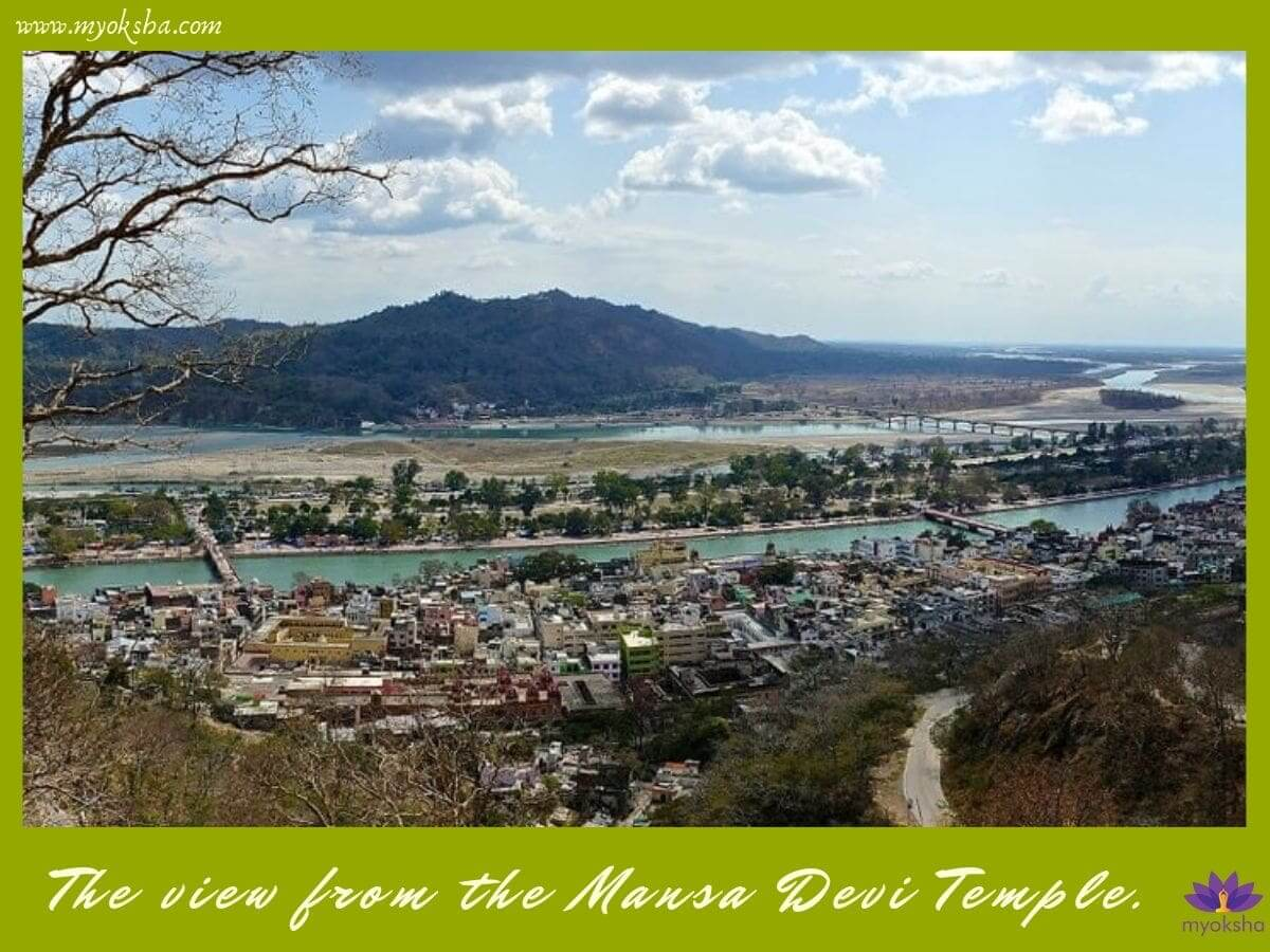 View from Mansa Devi Temple