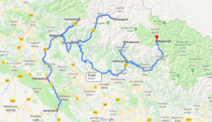 Char Dham Map Route