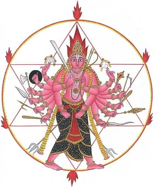 Lord Vishnu Sudarshana Chakra