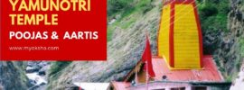 Yamunotri Temple Poojas and Aartis