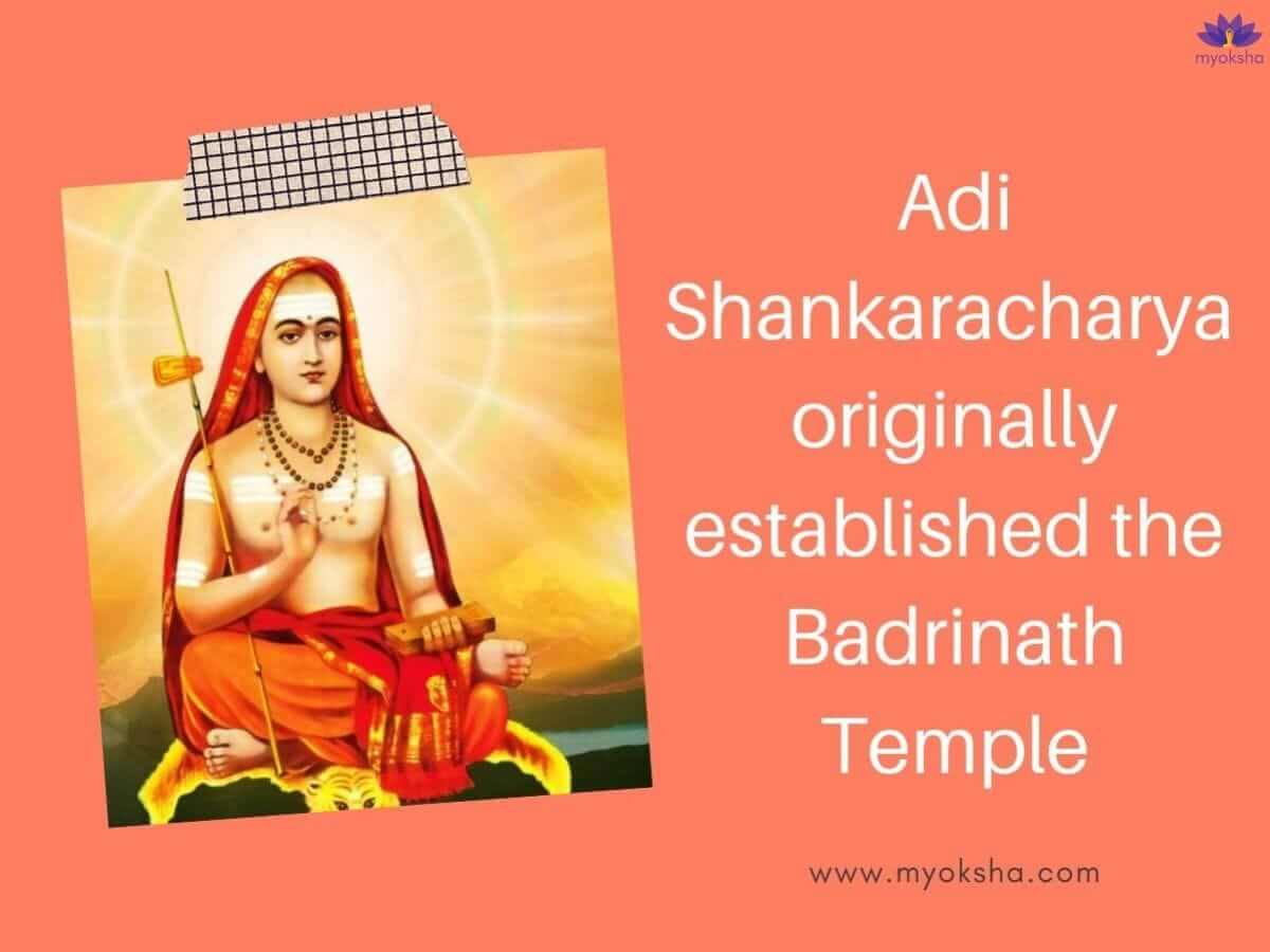 Adi Shankaracharya Established Badrinath Temple