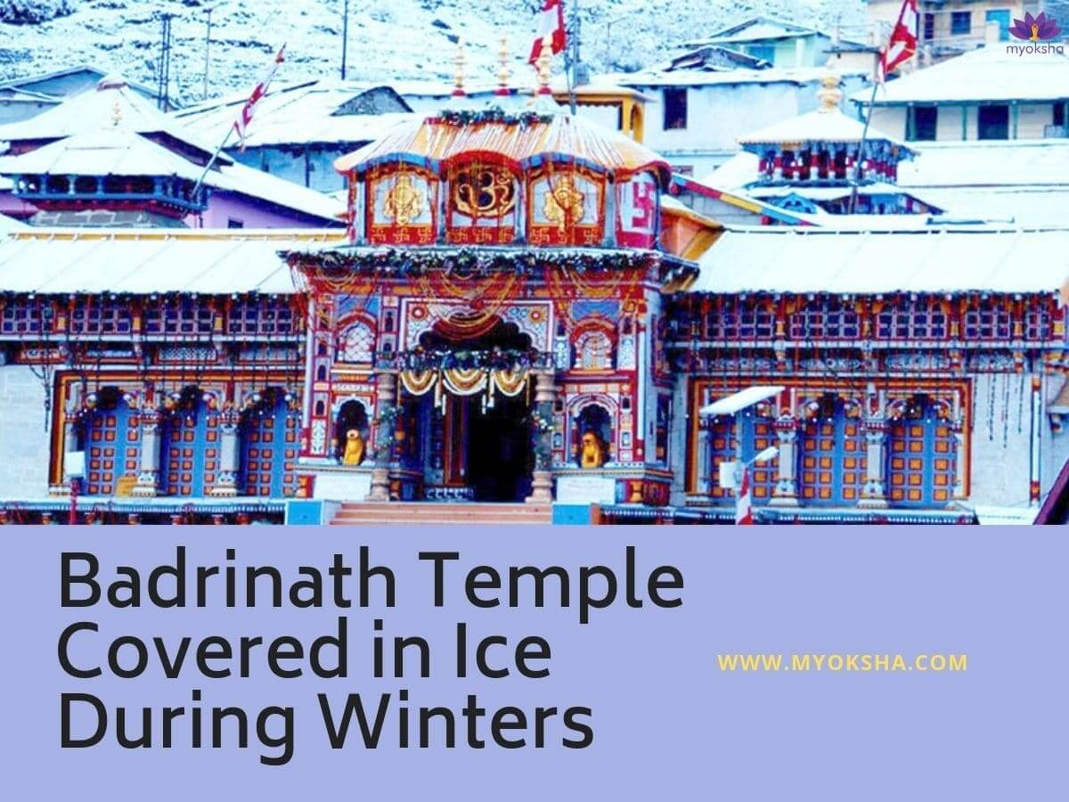 Badrinath Temple During Winters