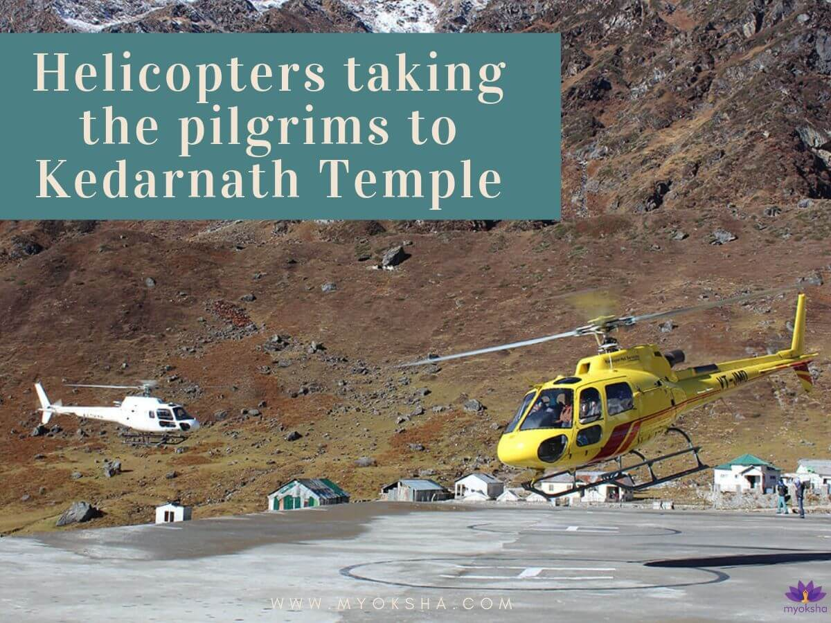 Helicoper Services in Kedarnath Temple