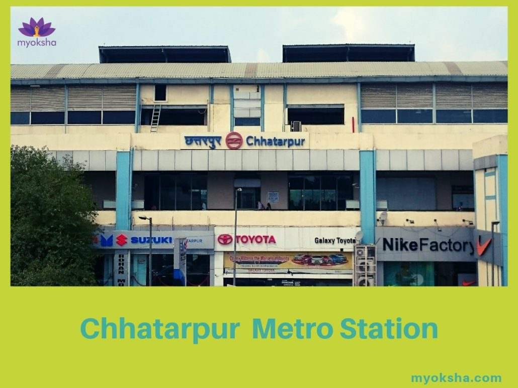 Metro-Station-near-Chhatarpur-Temple