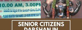 Senior Citizens Darshan Tirumala