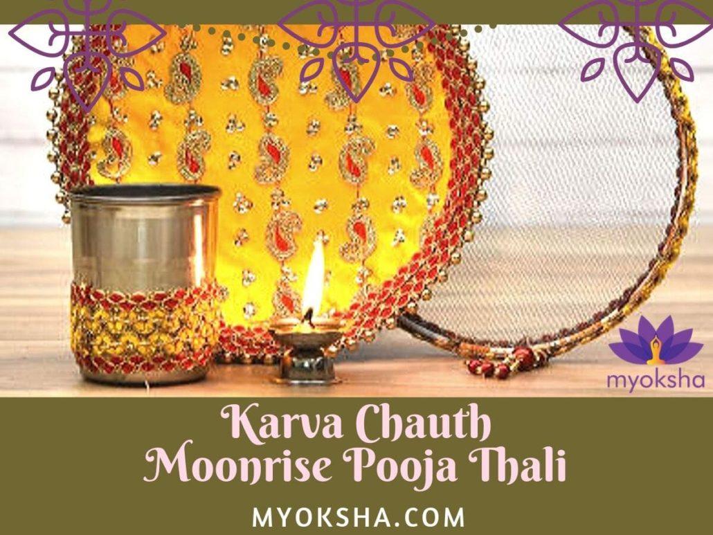 Karva Chauth Pooja Thali - Moonrise Worship