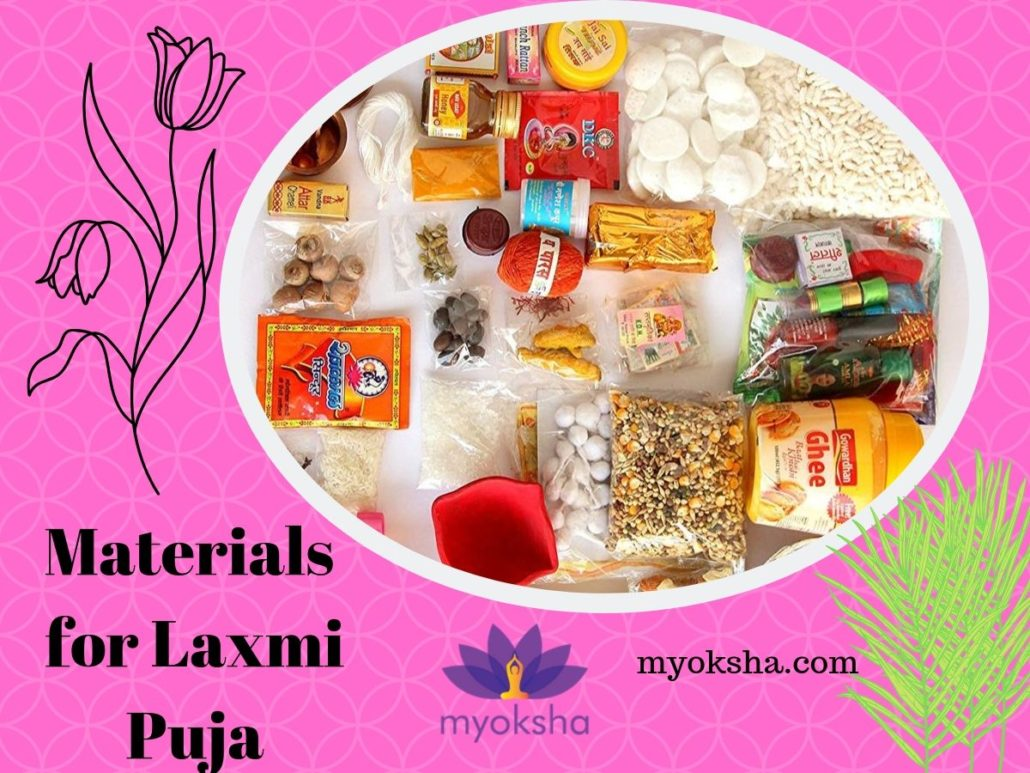 Materials for Laxmi Puja