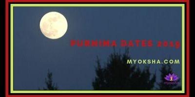 Purnima Dates 2019