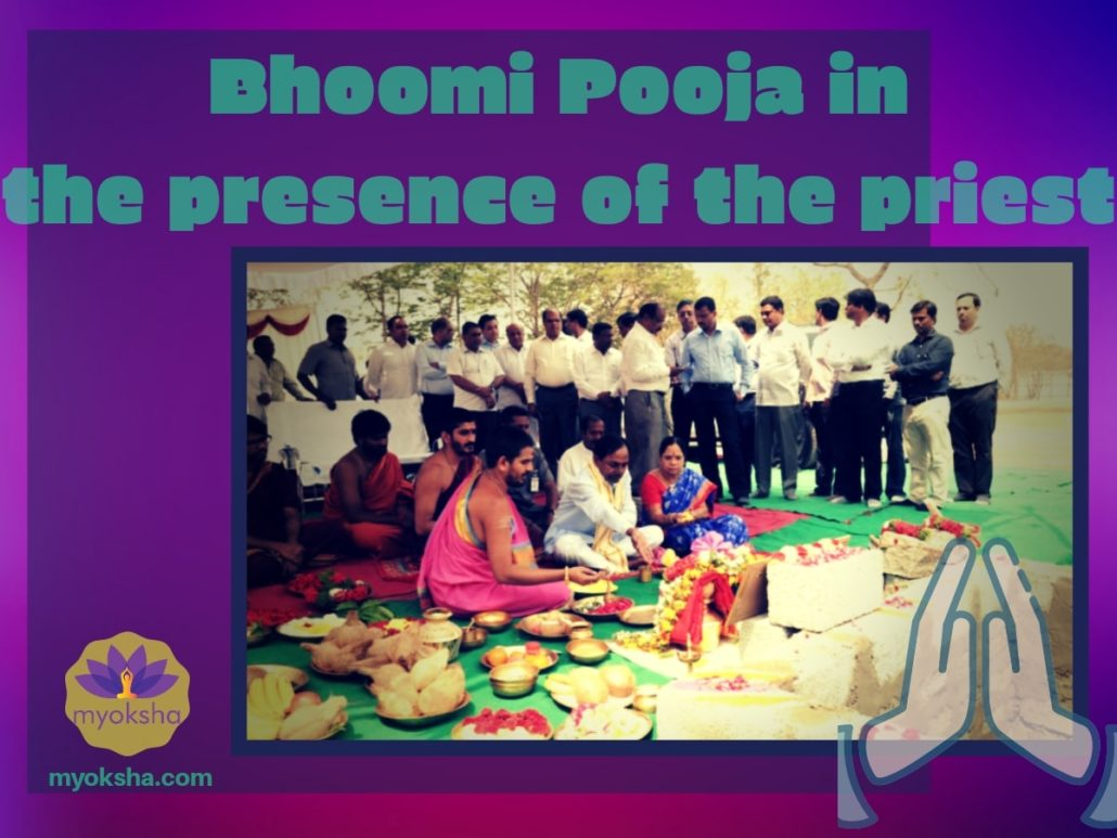 Who does the Bhoomi Pooja